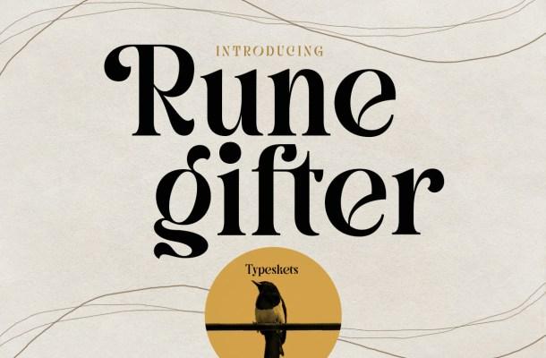 Rune Gifter Font