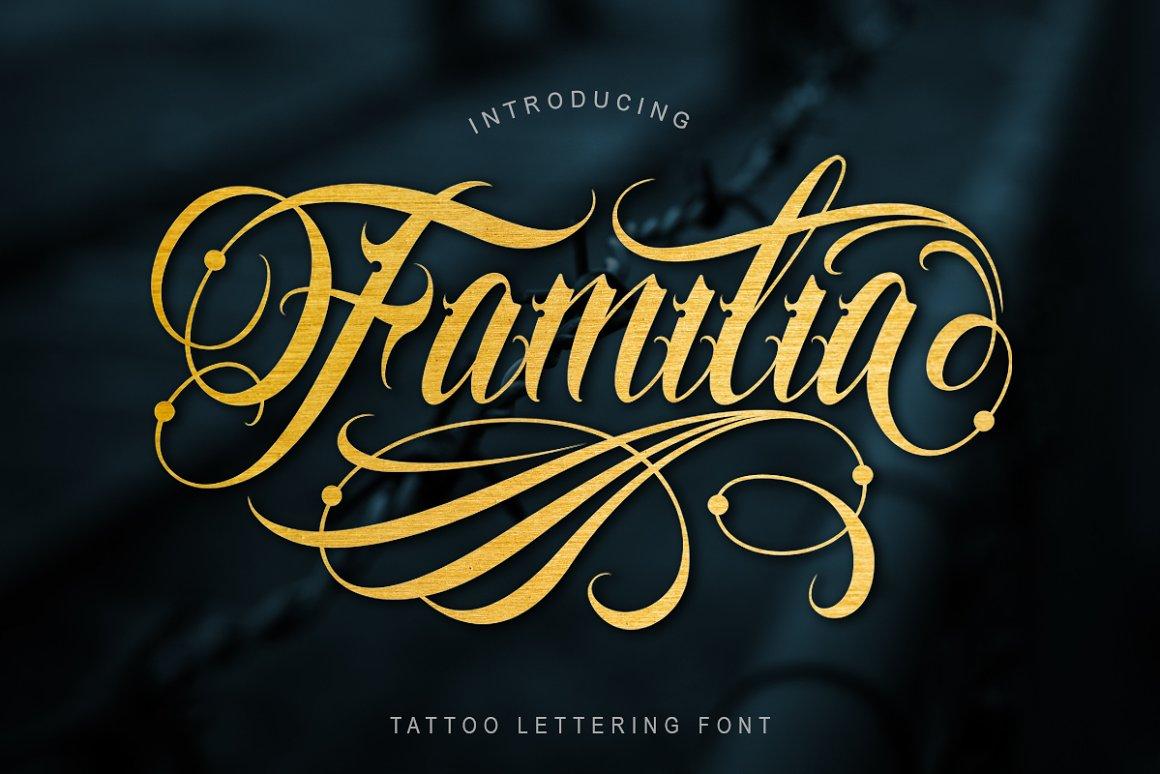 Familia-Tattoo-Font