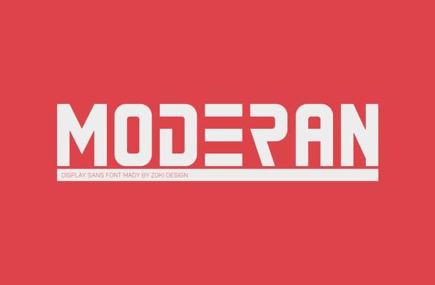 Moderan Font
