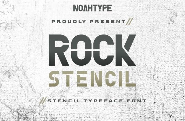 Rock Stencil Font
