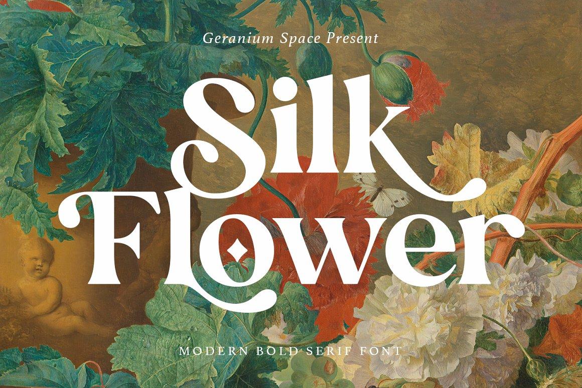 Silk-Flower-Font