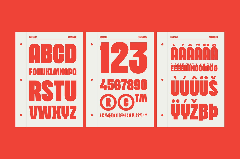 Hartone Display Font-3