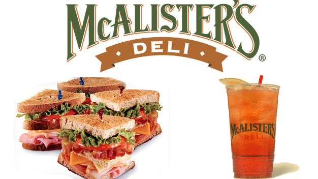Free Tea at McCalister's Deli on June 29