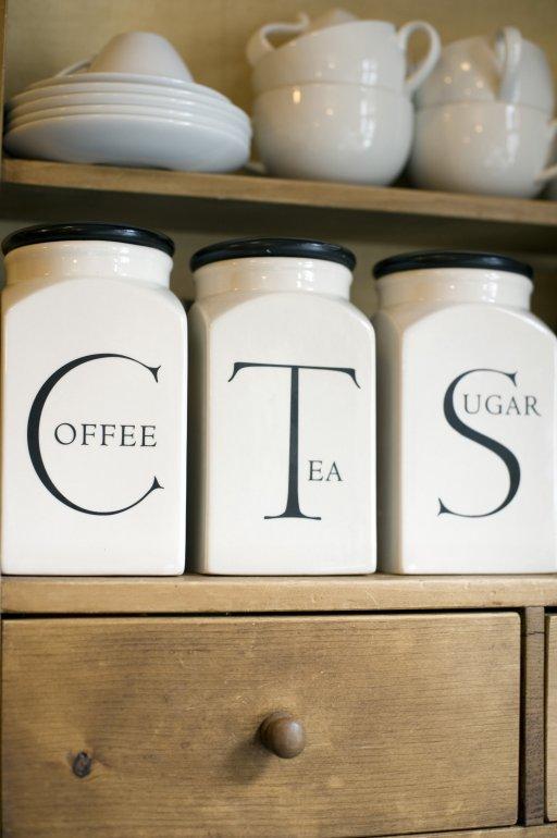 Coffee Tea Sugar canisters or jars  Free Stock Image