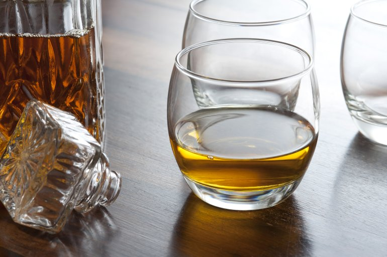 Glass of scotch whiskey  Free Stock Image