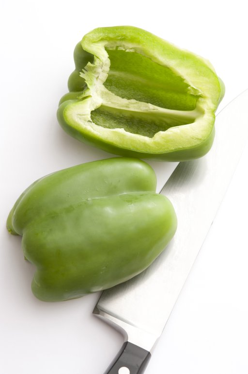 Two halves of green pepper  Free Stock Image