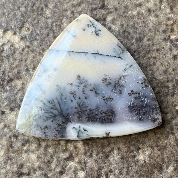 Turkish Dendritic Agate Doublet Cabochon