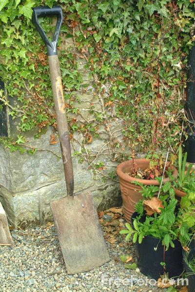 Picture of Garden Spade - Free Pictures - FreeFoto.com