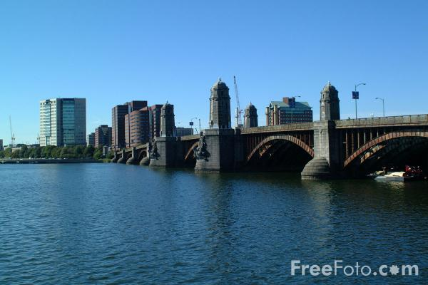 Longfellow Bridge Spans The Charles River And Connects
