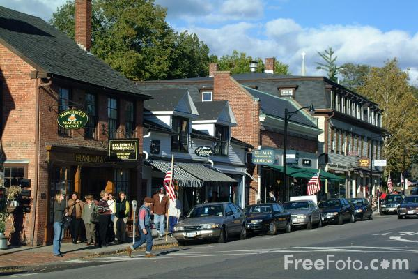 Fall In Boston Wallpaper Main Street Concord Massachusetts Pictures Free Use