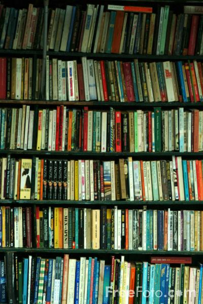 Picture of Books, Shakespeare and Company Bookstore, The Latin Quarter, Paris - Free Pictures - FreeFoto.com