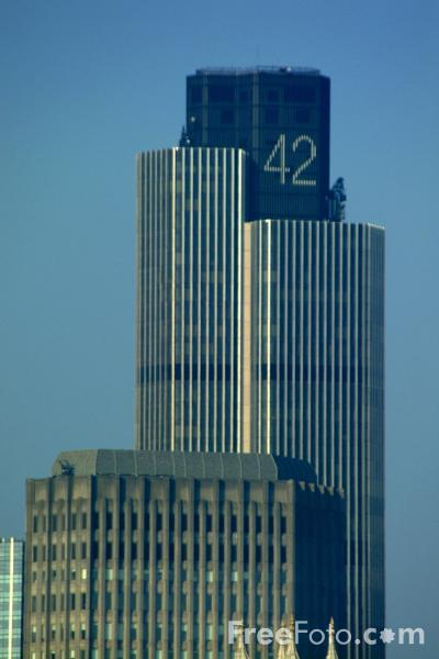 Tower 42  The tallest building in the City of London