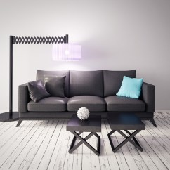 Sofa Floor Lamp B 205 Modern Red And White Leather Sectional Set Retractable 51257 Building Home