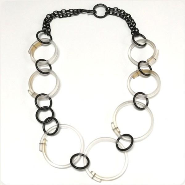 Clear Multi Hoop Necklace by Karen McCreary