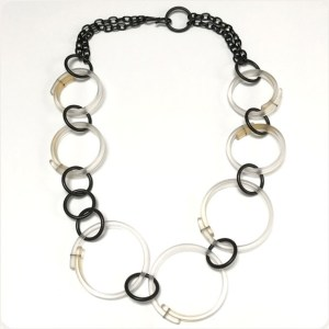 Clear Multi Hoop Necklace by Karen McCreary