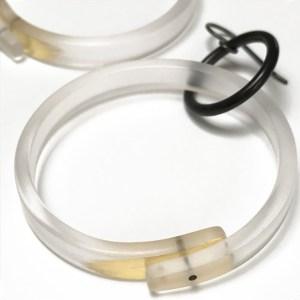 Large Clear Hoop Earrings by Karen McCreary