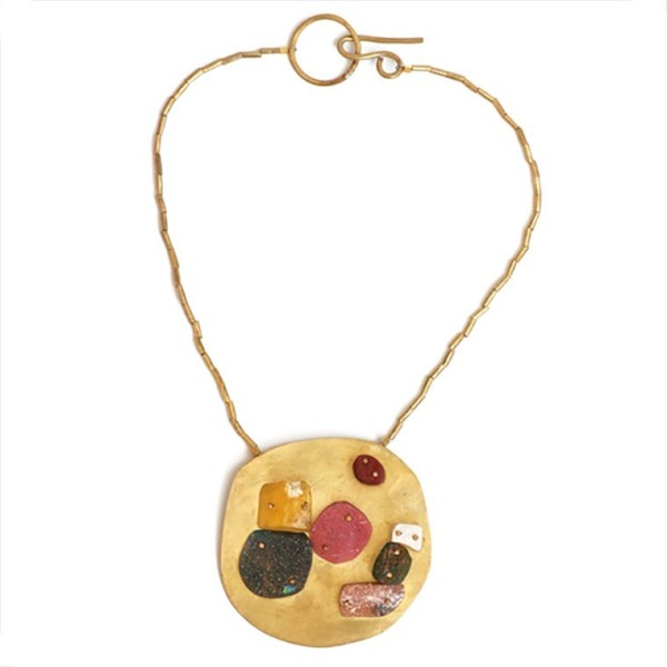 """Libranos de Todo Mal"" Multiple Resin Stone Necklace by Maru López"