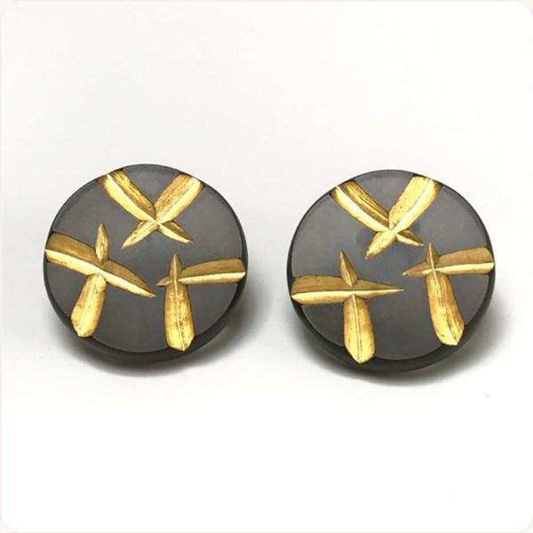 Shooting Stars Post Earrings by Karen McCreary