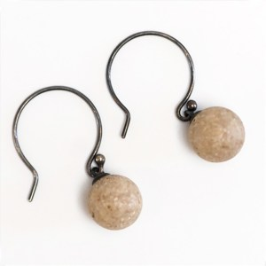 White Sand Droplet Earrings by Casey Sharpe