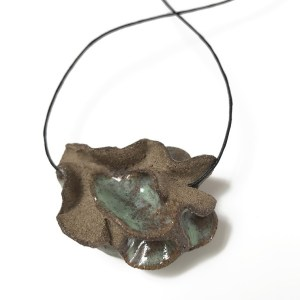 "Green & Brown ""Pinchy Pendant"" by Roksana Pirouzmand"