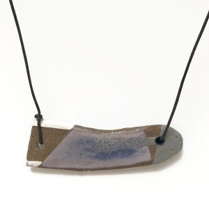 Purple and Gray Pendant by Roksana Pirouzmand