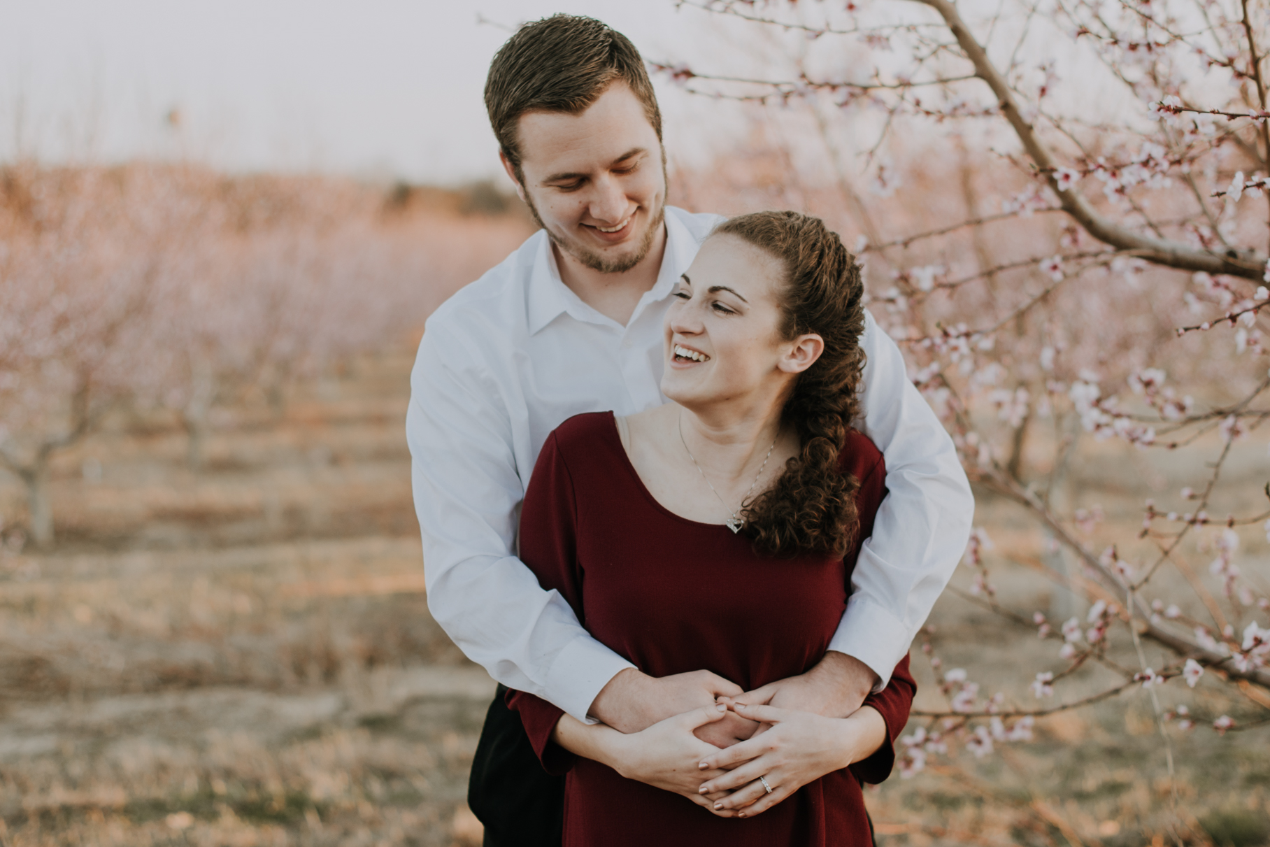 nj peach orchard engagement session | tampa and new york wedding photography