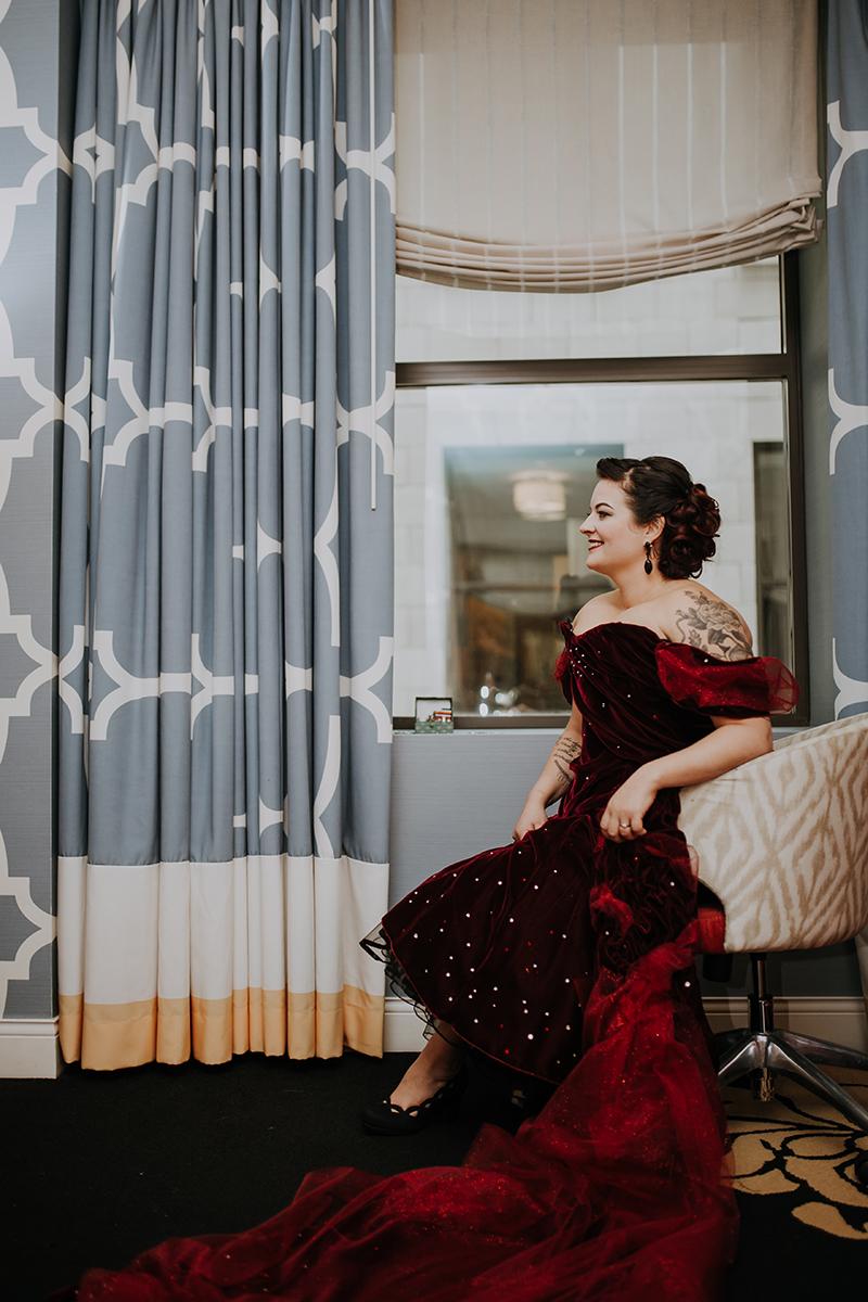 rockabilly bride | philadelphia wedding | moody film wedding photography | travel wedding photographer