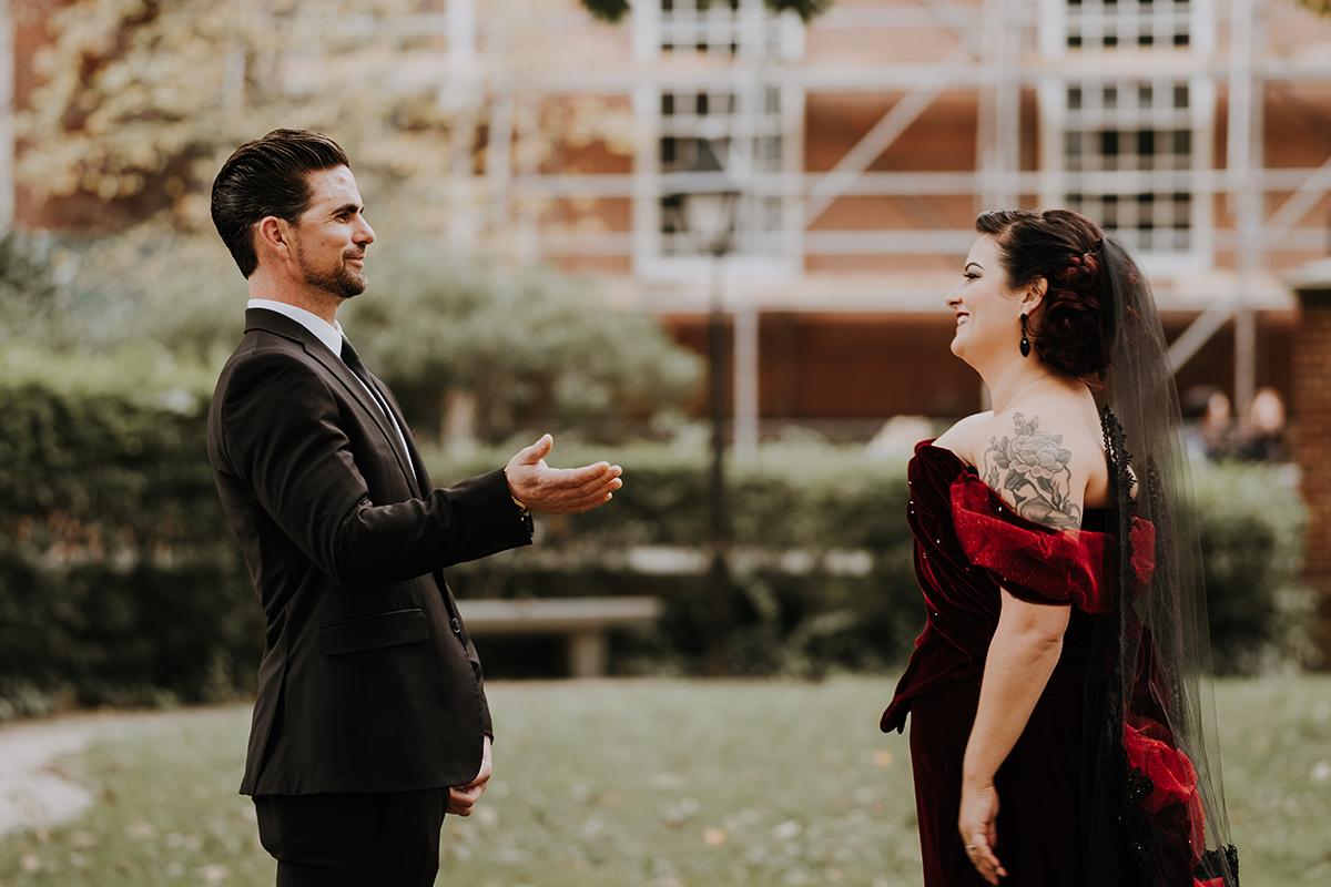 first look | philadelphia wedding | moody film wedding photography | travel wedding photographer