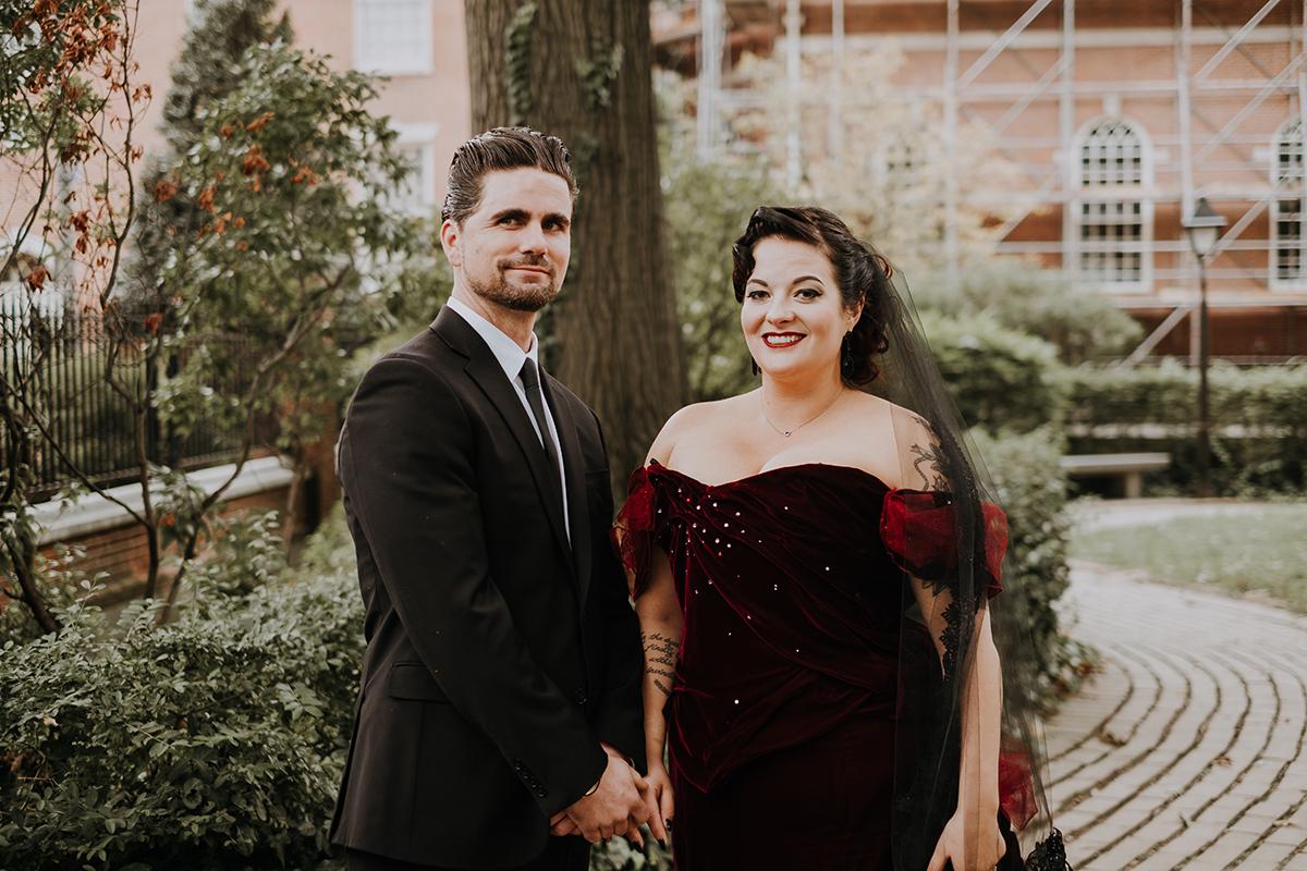 eclectic wedding dress | philadelphia wedding | moody film wedding photography | travel wedding photographer