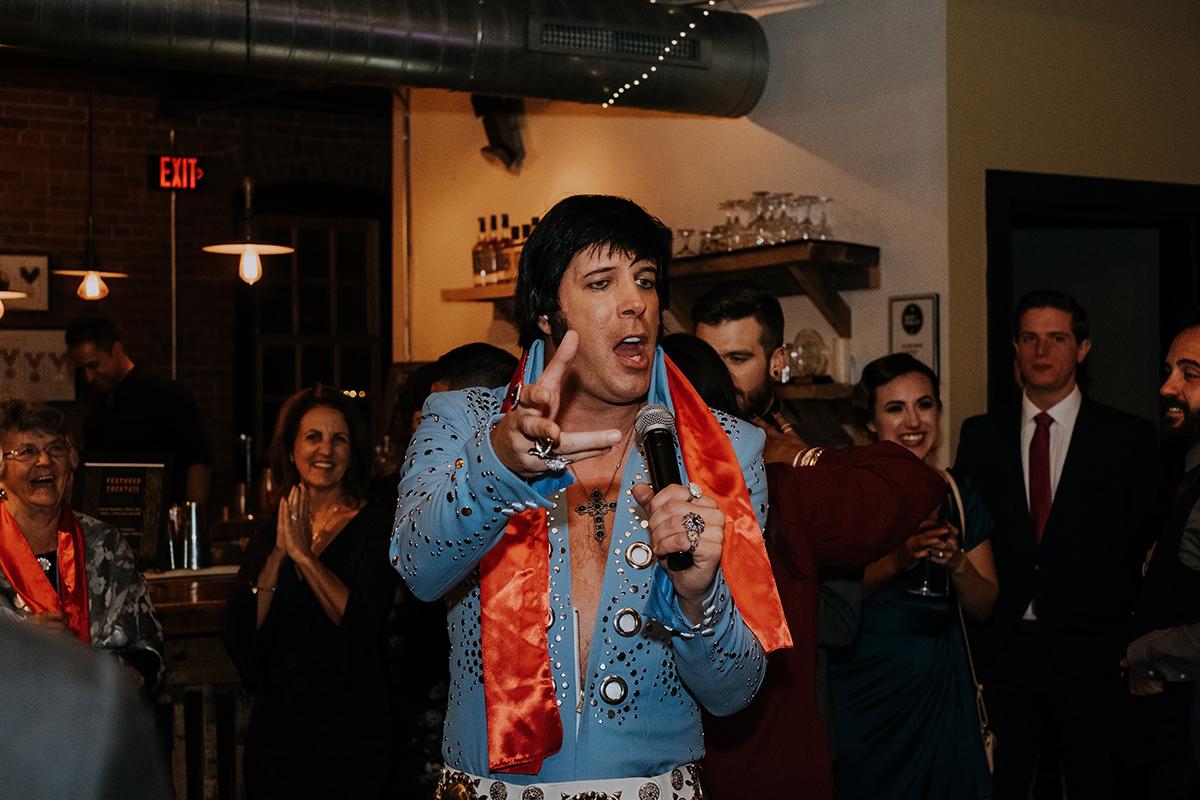 Elvis impersonator | philadelphia wedding | moody film wedding photography | travel wedding photographer