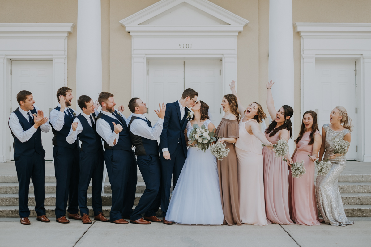 bridal party portraits | Emily + Aaron | Freehearted Film Co | Tampa Wedding Photography and Wedding Videography