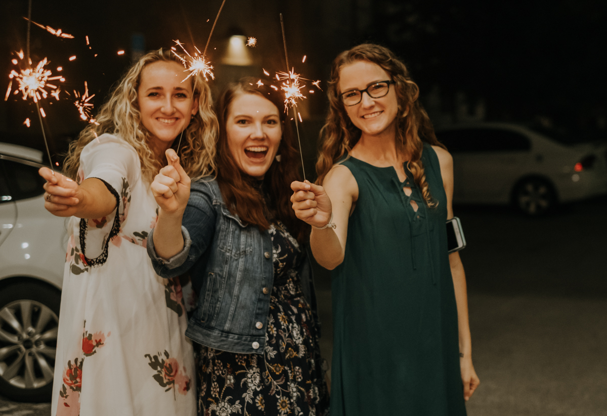 Sparkler exit | Tampa wedding | Emily + Aaron | Freehearted Film Co | Tampa Wedding Photography and Wedding Videography