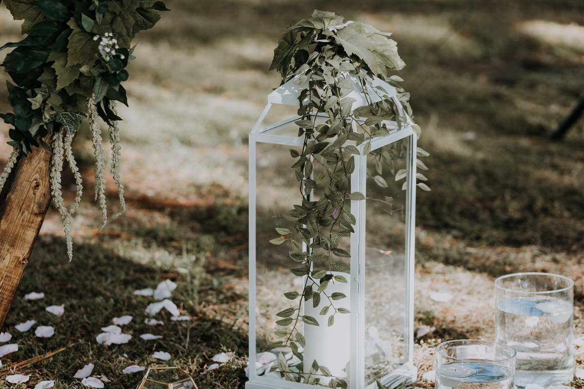 lantern wedding decor | boho sarasota wedding
