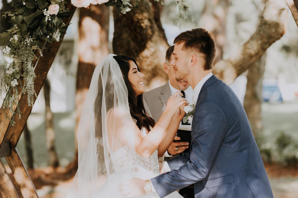 pronounced husband and wife | outdoor Florida wedding
