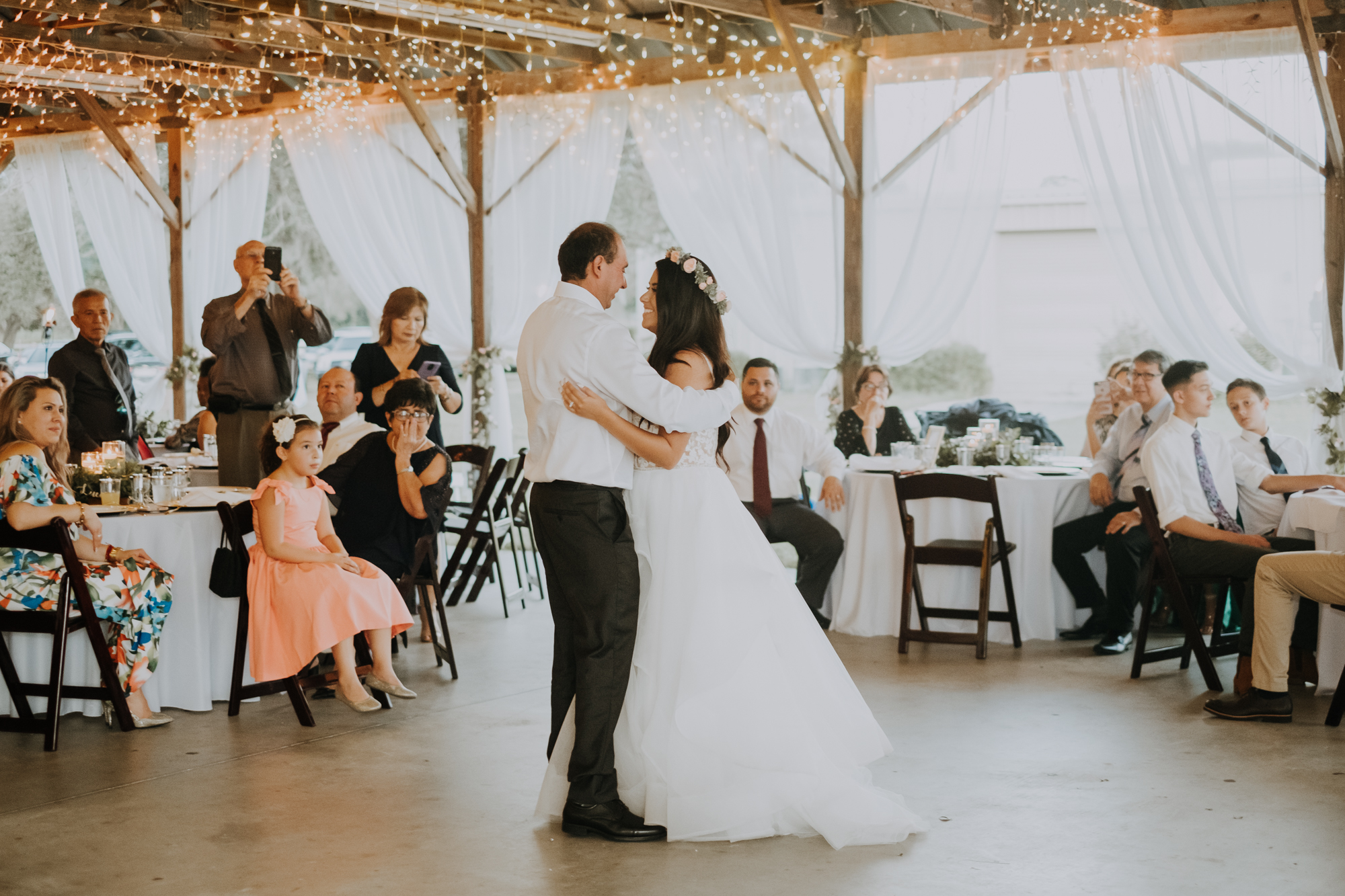 daddy daughter first dance | father daughter first dance | father daughter dance | boho wedding reception
