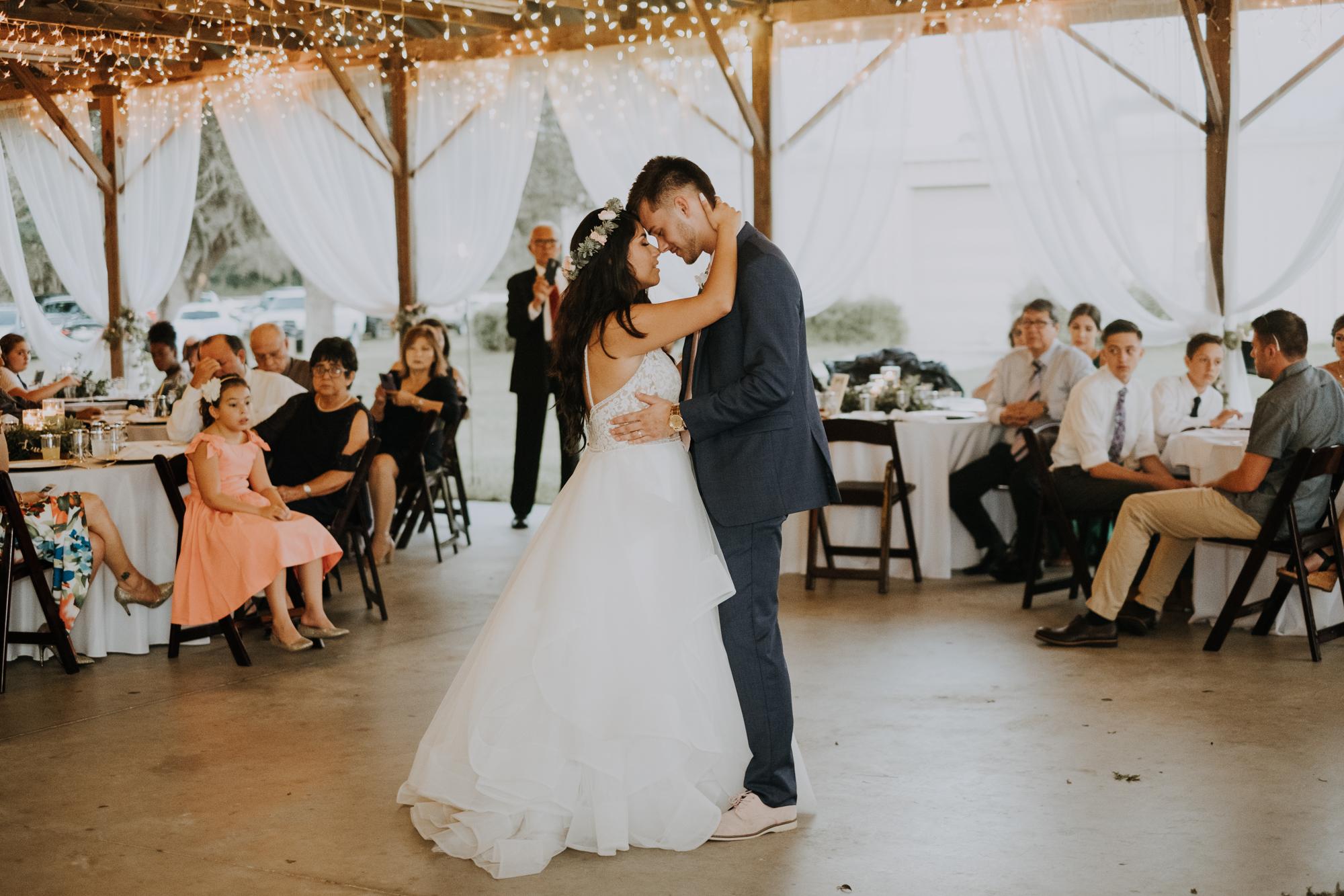 husband and wife first dance | wedding first dance | first dance as husband and wife | boho wedding reception | romantic sarasota wedding