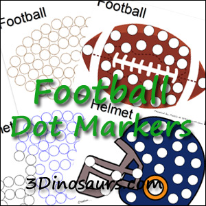 Free Football Dot Marker Pages on Don T Forget To Print On Free Educational Worksheets