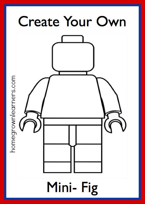 FREE Lego Mini-Figure Printable