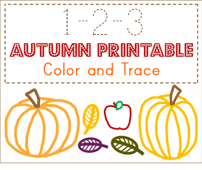 Free Autumn 123 Toddler Printables   Free Homeschool Deals ©