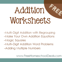 Free Addition Worksheets Make Your Own Addition Equations Three  Free Addition Worksheets Make Your Own Addition Equations Threedigit  Addition With Regrouping Commutative Squares