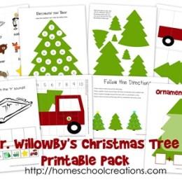Free Christmas Printables:  Mr. Willowby's Christmas Tree Printable Pack