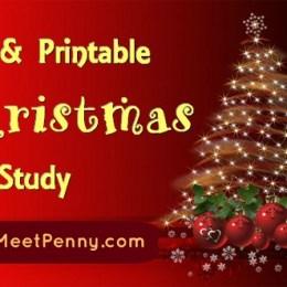 Free Christmas Unit Study and Printables