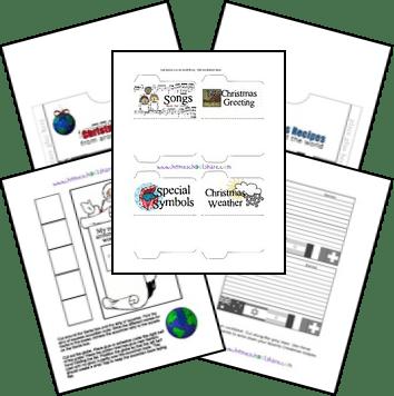 Free Christmas Around the World Unit Study and Lapbook Printables
