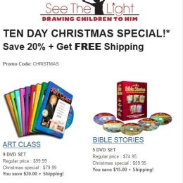 See the Light Christmas Special (Coupon Code 20% Off + Free Shipping!)