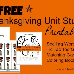 Free Thanksgiving Unit Study Lesson Plan & Printables