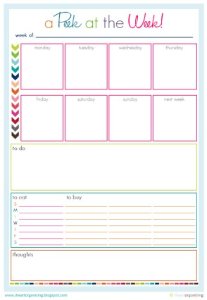 Free Organizing Worksheets, Printables, and Planners