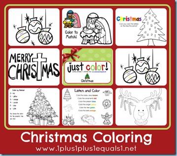 Free Christmas Coloring Worksheets