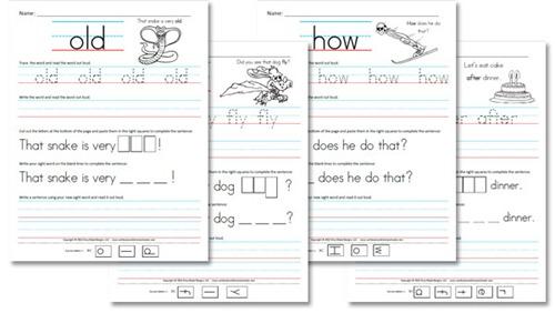 Free Homeschool Worksheets First Grade Sight Word Sentences Free