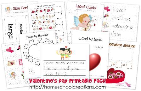 Free Valentine's Day Printables for Preschool and Kindergarten