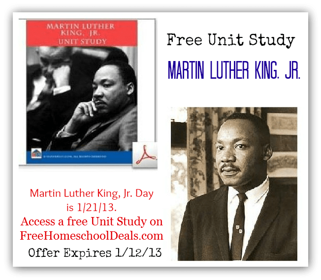 Free Martin Luther King Jr Unit Study